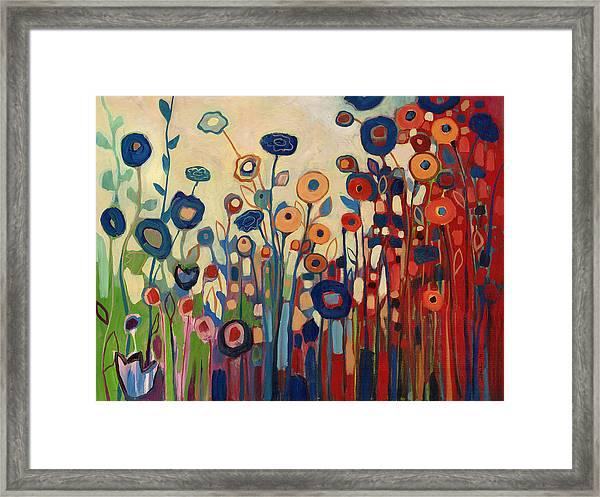 Meet Me In My Garden Dreams Framed Print