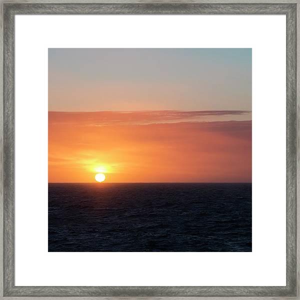 Meeting The Horizon Framed Print