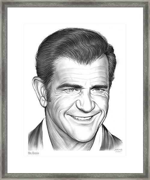 Mel Gibson Framed Print