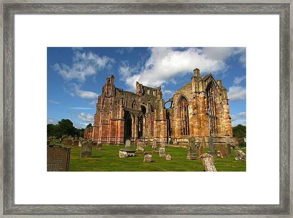 Melrose Abbey Framed Print