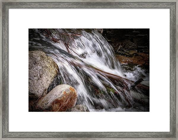 Melting Snow Falls Framed Print