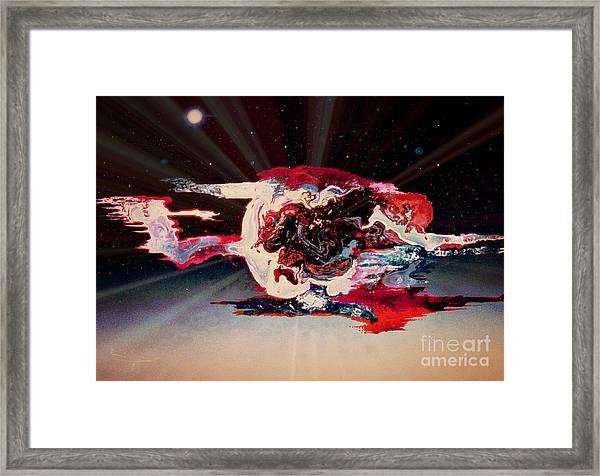 Melting World Framed Print