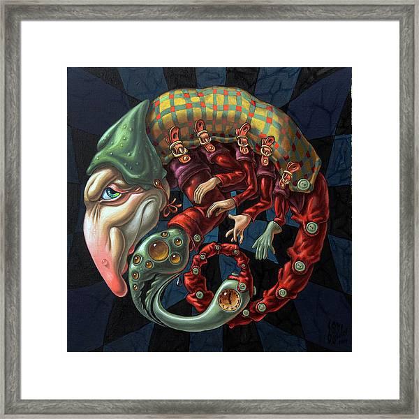 Memento Mori. Red Scorpion Framed Print