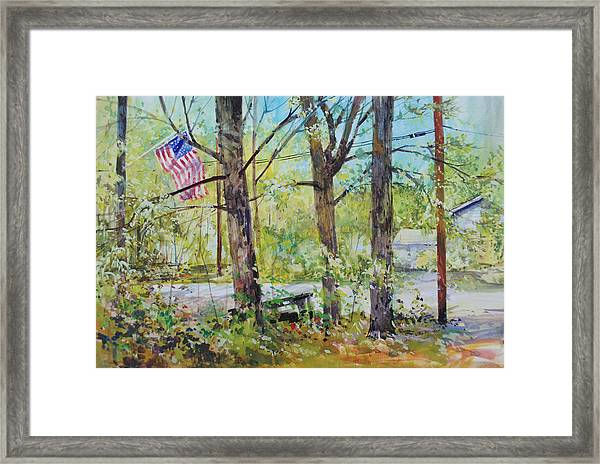 Memorial Day Flag Framed Print