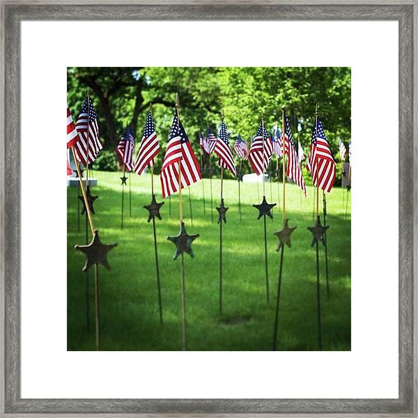 Memorial Day In America Framed Print