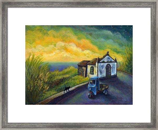 Memories Neath A Yellow Sky Framed Print