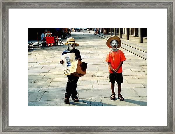 Memories Of A Better Time The Children Of New Orleans Framed Print