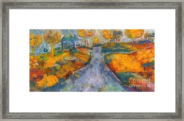 Memories Of Home In Autumn Framed Print