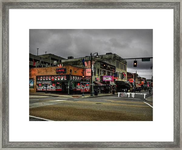 Framed Print featuring the photograph Memphis - Beale Street 002 by Lance Vaughn