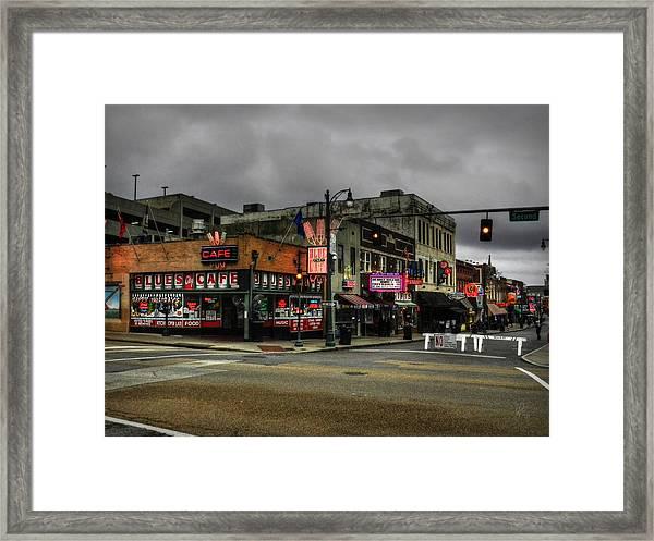 Memphis - Beale Street 002 Framed Print