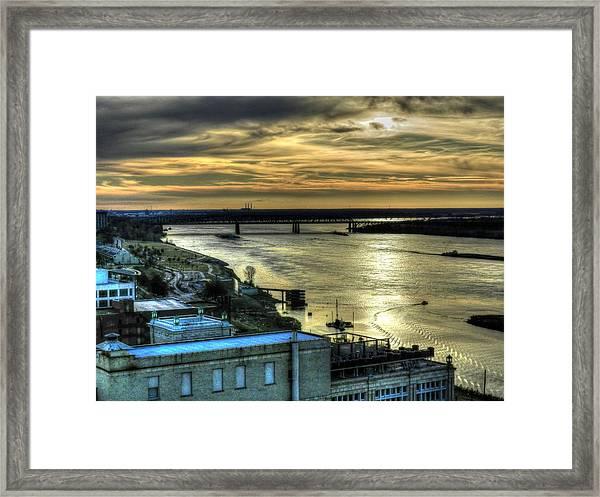 Memphis Fall Hdr 003 Framed Print