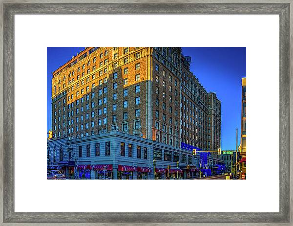Framed Print featuring the photograph Memphis Peabody Hotel by Barry Jones