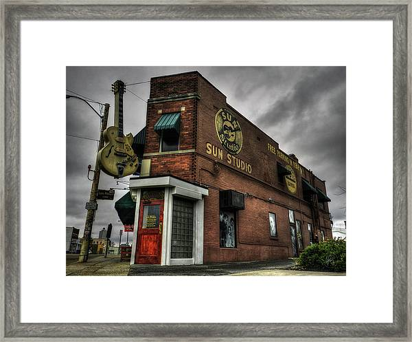 Framed Print featuring the photograph Memphis - Sun Studio 001 by Lance Vaughn