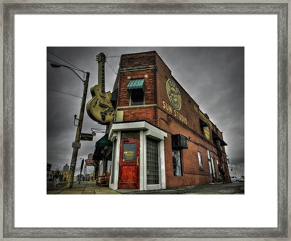 Framed Print featuring the photograph Memphis - Sun Studio 002 by Lance Vaughn