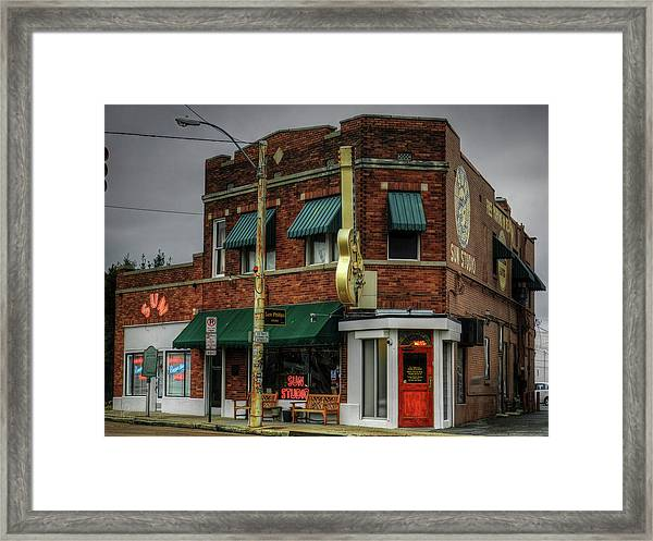 Framed Print featuring the photograph Memphis - Sun Studio 003 by Lance Vaughn