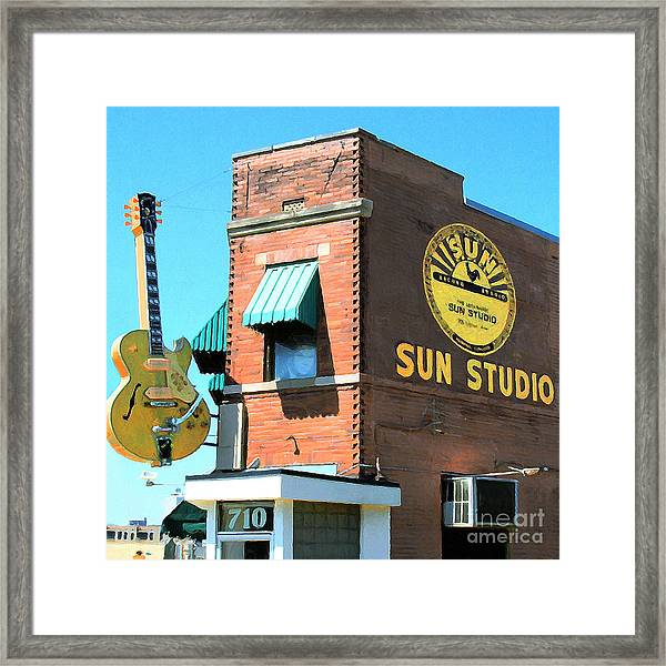 Memphis Sun Studio Birthplace Of Rock And Roll 20160215 Square Framed Print