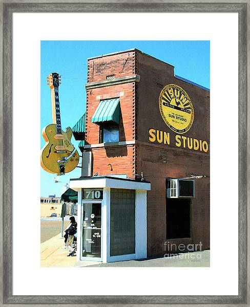 Memphis Sun Studio Birthplace Of Rock And Roll 20160215 Framed Print