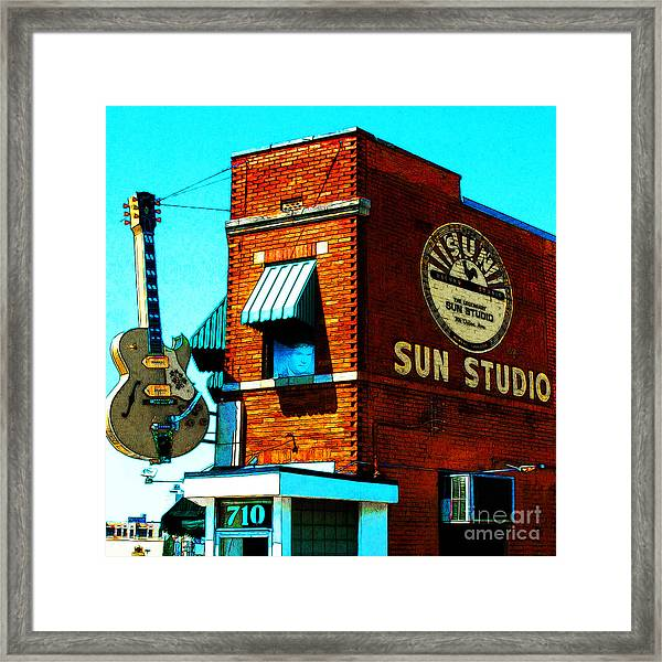 Memphis Sun Studio Birthplace Of Rock And Roll 20160215sketch Sq Framed Print