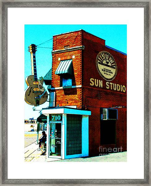 Memphis Sun Studio Birthplace Of Rock And Roll 20160215sketch Framed Print