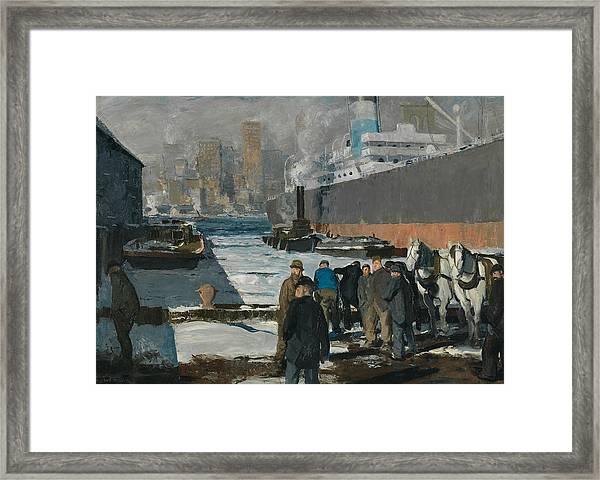 Men Of The Docks Framed Print
