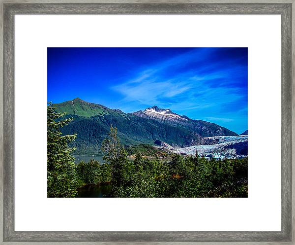 Mendenhall Glacier Alaska Framed Print