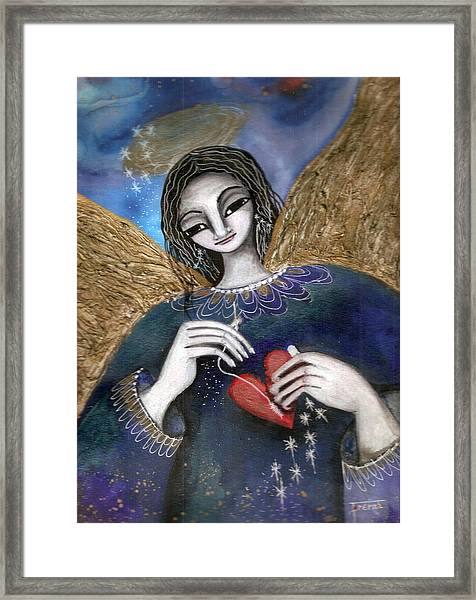 Mender Of Hearts Angel Framed Print