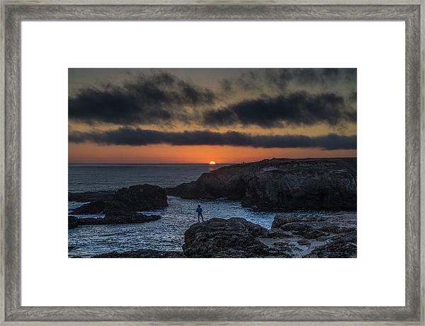 Mendocino Sunset Framed Print