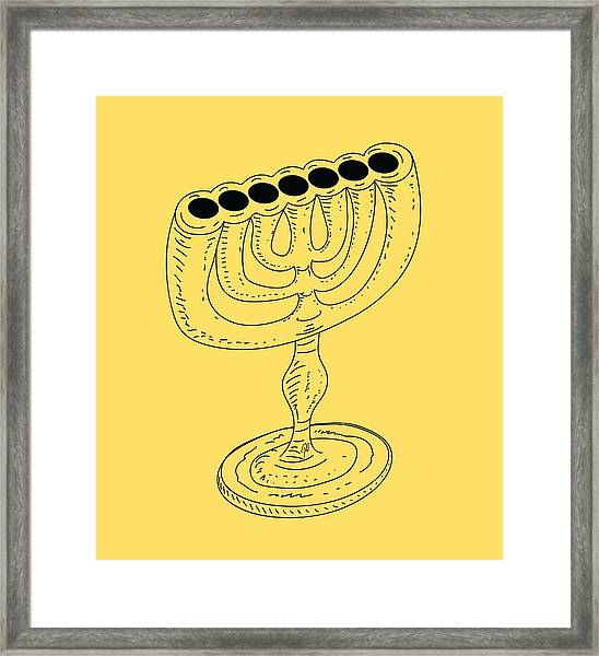 Menorah 1 Framed Print
