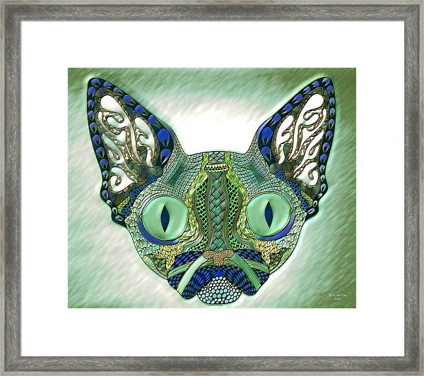 Meow Cat Framed Print