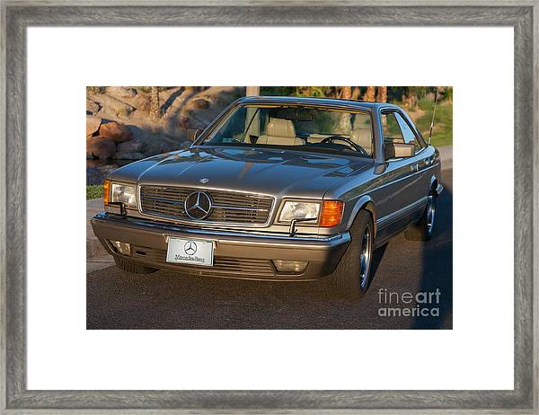 Mercedes 560sec W126 Framed Print