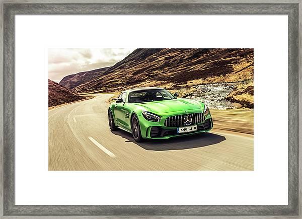 Mercedes A M G  G T  R Framed Print