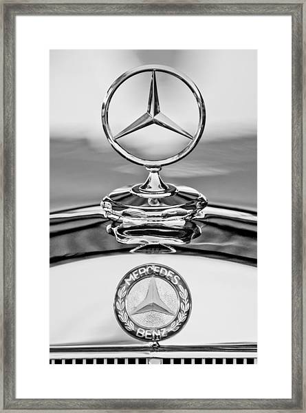 Mercedes Benz Hood Ornament 2 Framed Print