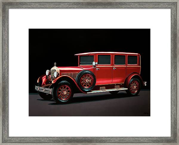 Mercedes-benz Typ 300 Pullman Limousine 1926 Painting Framed Print