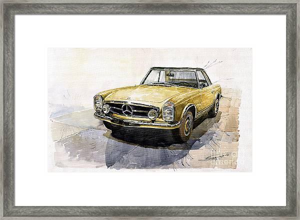 Mercedes Benz W113 Pagoda Framed Print