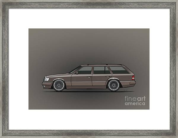 Mercedes Benz W124 E-class 300te Wagon - Anthracite Grey Framed Print