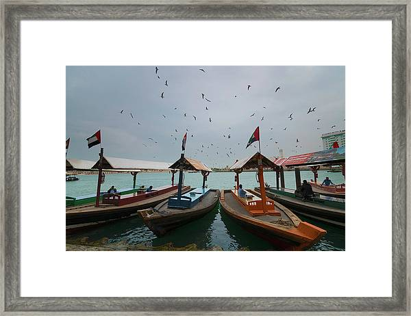 Merchants Of Dubai Framed Print