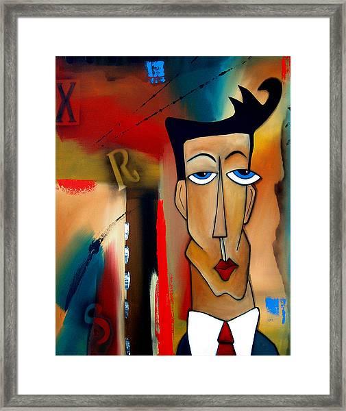 Merger - Abstract Art By Fidostudio Framed Print