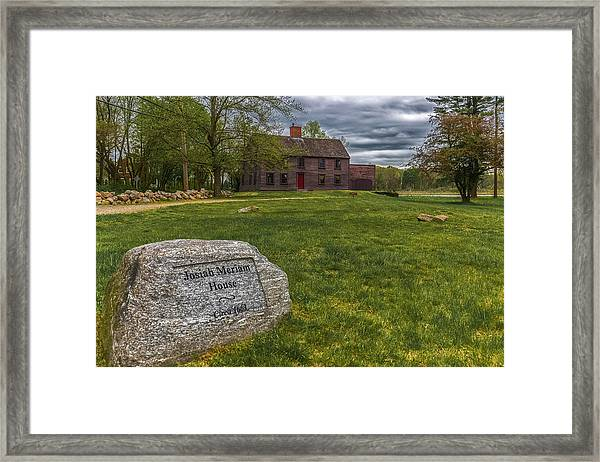 Meriams Corner, Minute Man National Park Framed Print