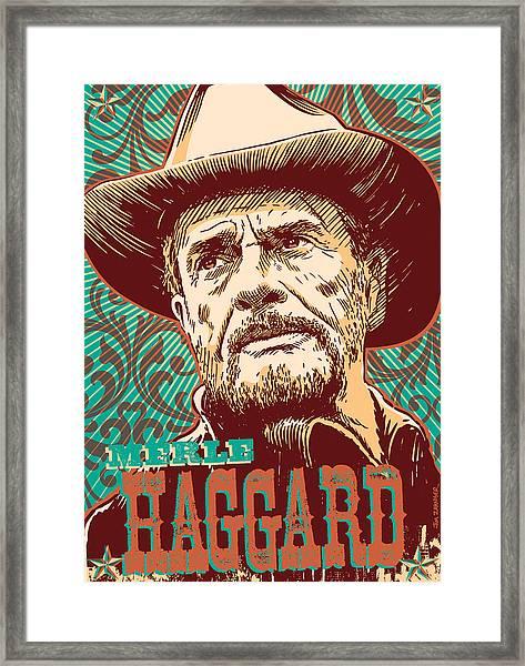 Merle Haggard Pop Art Framed Print