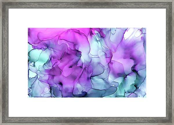Mermaid Abstract Ink Painting Framed Print