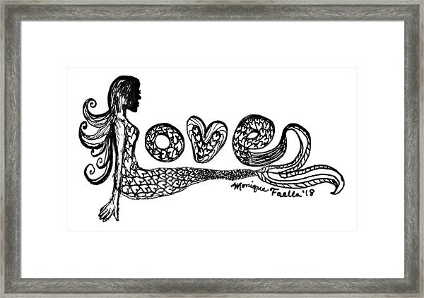 Mermaid Love Framed Print