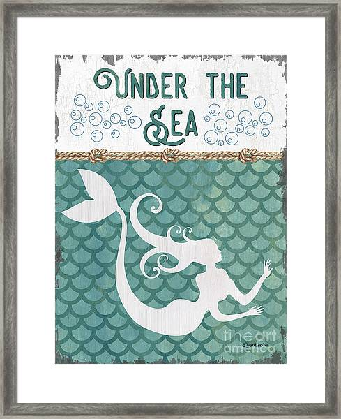 Mermaid Waves 2 Framed Print