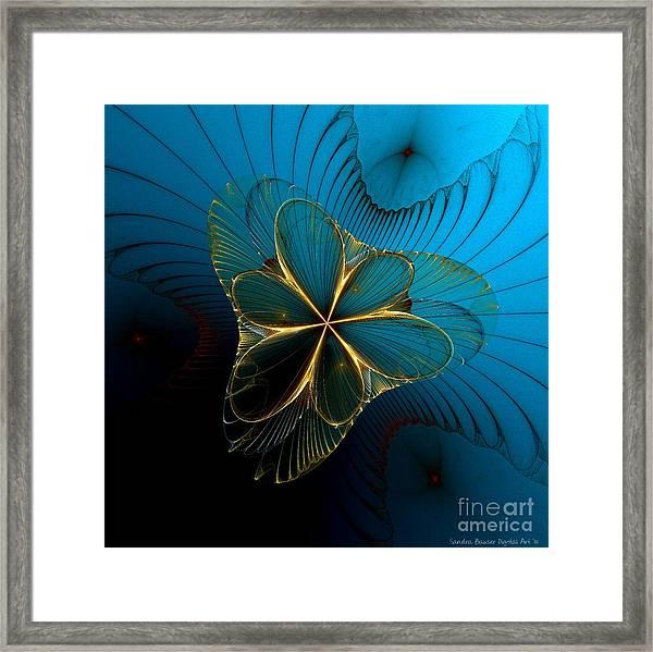 Framed Print featuring the digital art Mermaid's Corsage by Sandra Bauser Digital Art