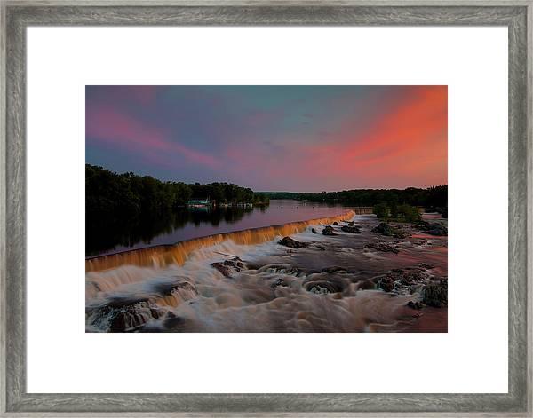 Merrimack River Falls Framed Print