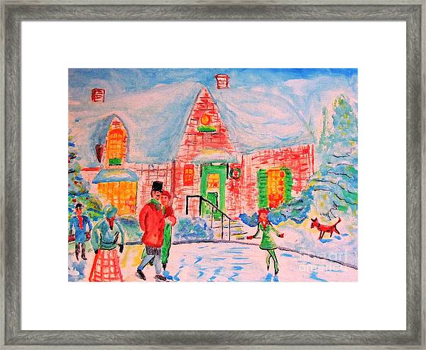 Merry Christmas And Happy Holidays Framed Print