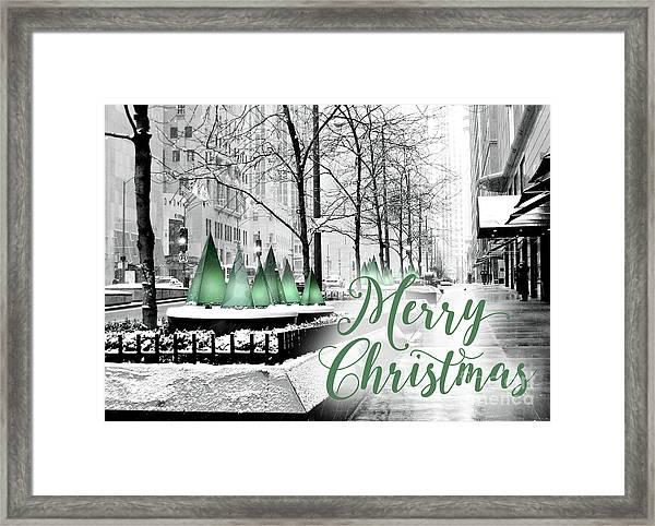 Merry Christmas Chicago Framed Print