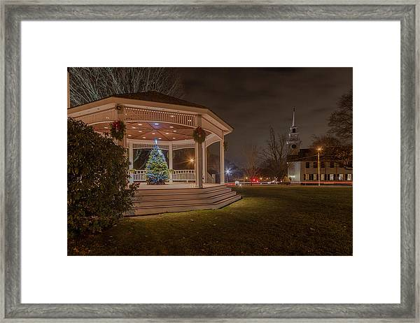 Merry Christmas From Milton Massachuetts Framed Print