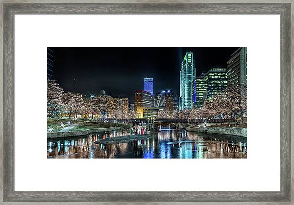 Merry Christmas Omaha Framed Print