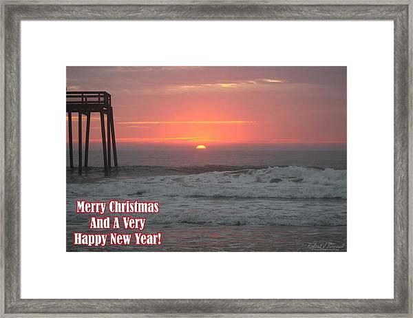 Merry Christmas Sunrise  Framed Print