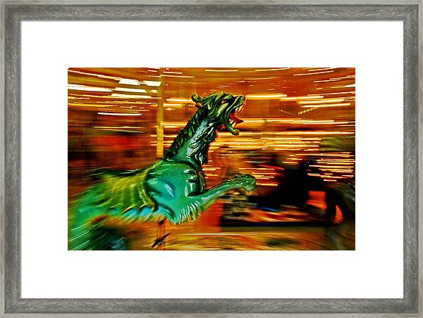 Merry-go-round Dragon Framed Print